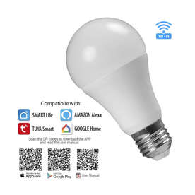 Smart LED лампа Ultralux WFB827MC 220V, E27, 8W/60W, 220V, 4200К + RGB, 800lm, тип форма А60, 270°, 2.4 GHz, Smart Life (iOS 8.0, Android 4.4)